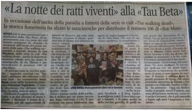 Articolo Il Giornale di Monza